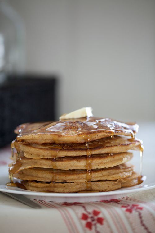 "<strong>Get the <a href=""http://alittlezaftig.com/?p=3756"">Whole Wheat Gingerbread Pancakes recipe</a> from A Little Zaftig</"
