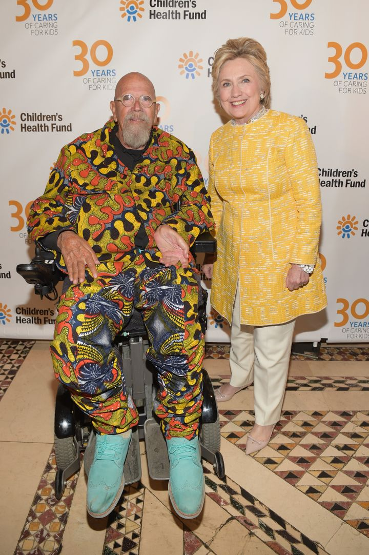 Close and former Secretary of State Hillary Clinton attend the Children's Health Fund Annual Benefit in New York City, May 23
