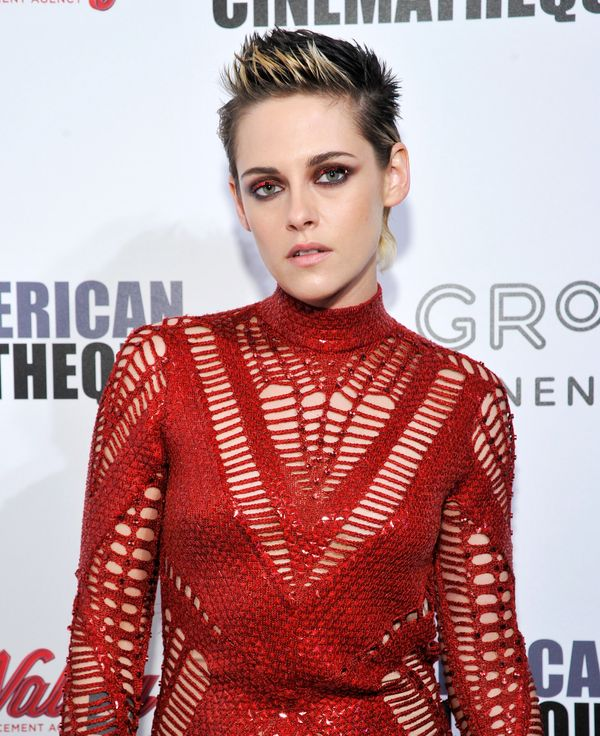If you're feeling extra festive, why not try a red eye shadow like Kristen Stewart? This look is definitelyfor the bold