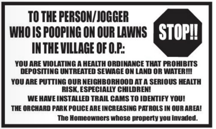 Mystery Pooper Terrorizing Lawns Of New York Town