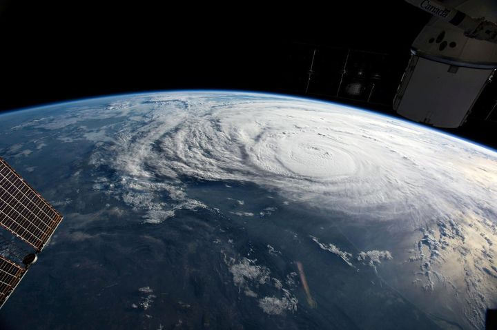 Hurricane Harvey, seen here in a photo taken from the International Space Station, was made worse by climate change, scientis