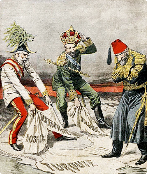 The collapse of the old empires influenced national tensions in the Balkans