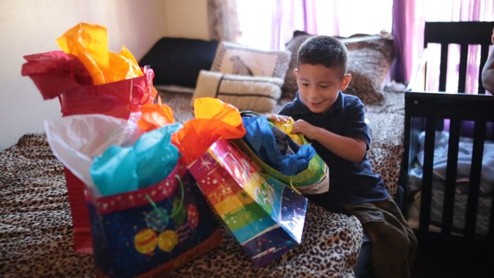 The organization has a gift-giving initiative for the holidays (which ends this week) and a way for kids to ensure children have a present on their birthdays.
