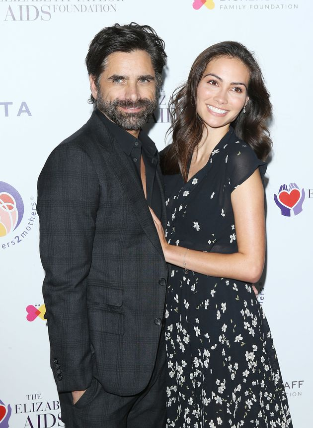 John Stamos and Caitlin McHugh pictured together in