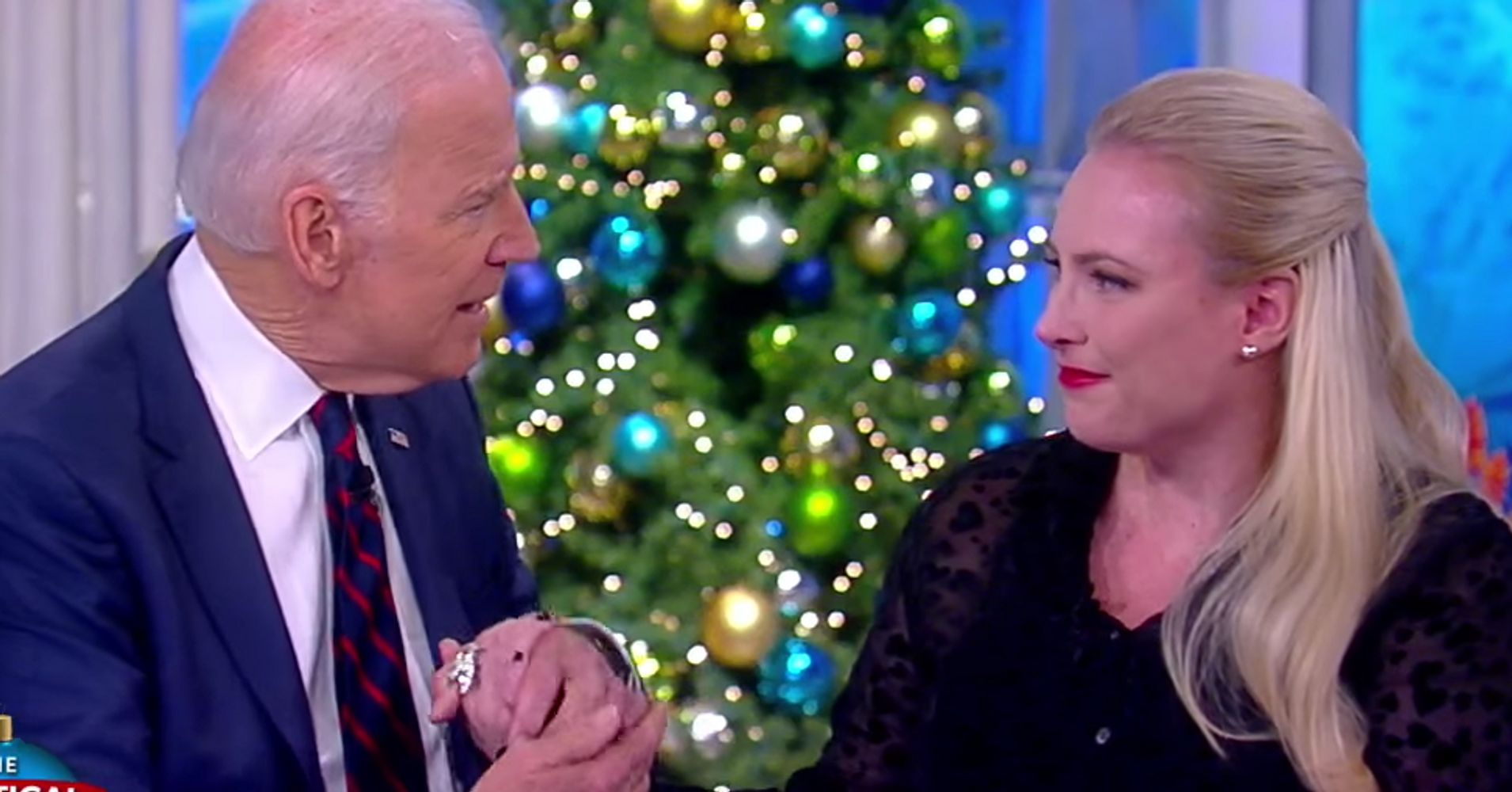 Joe Biden Holds Meghan McCain's Hand In Emotional Moment On 'The View'
