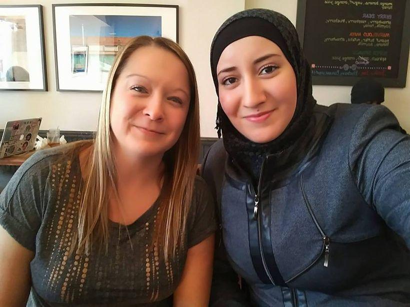 Jessica Bueler and Mawda Altayan