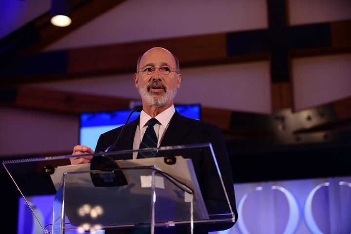 "Pennsylvania Gov. Tom Wolf (D) speaks during the Geisinger National Symposium, ""From Crisis to Cure: Revitalizing America's H"