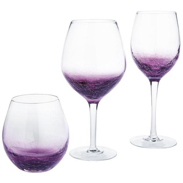 "Get the purple stemware <a href=""https://www.pier1.com/crackle-purple-stemware/PS34115.html"" target=""_blank"">here</a>."