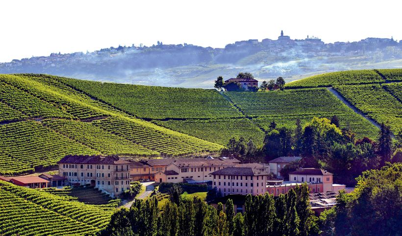 """Fontanafredda Winery in Serralunga d&#39;Alba, Piedmont, Italy, the 2017 """"<em>European Winery of the Year</em>"""" in the Annual"""