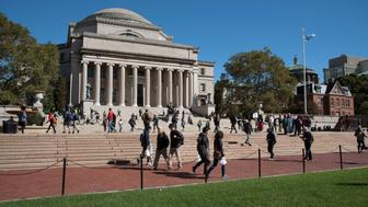 Columbia University New York USA, The Library of Columbia University on the Upper West Side NYC. (Photo by: Education Images/UIG via Getty Images)