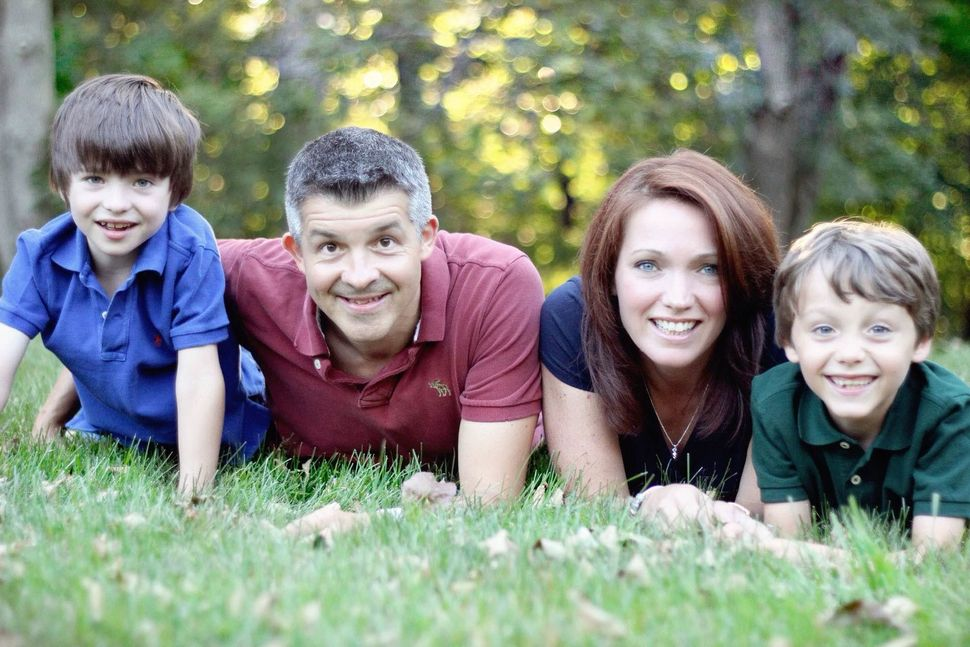 Dylan Hockley (far left) was very close with his parents and his big brother, Jake.
