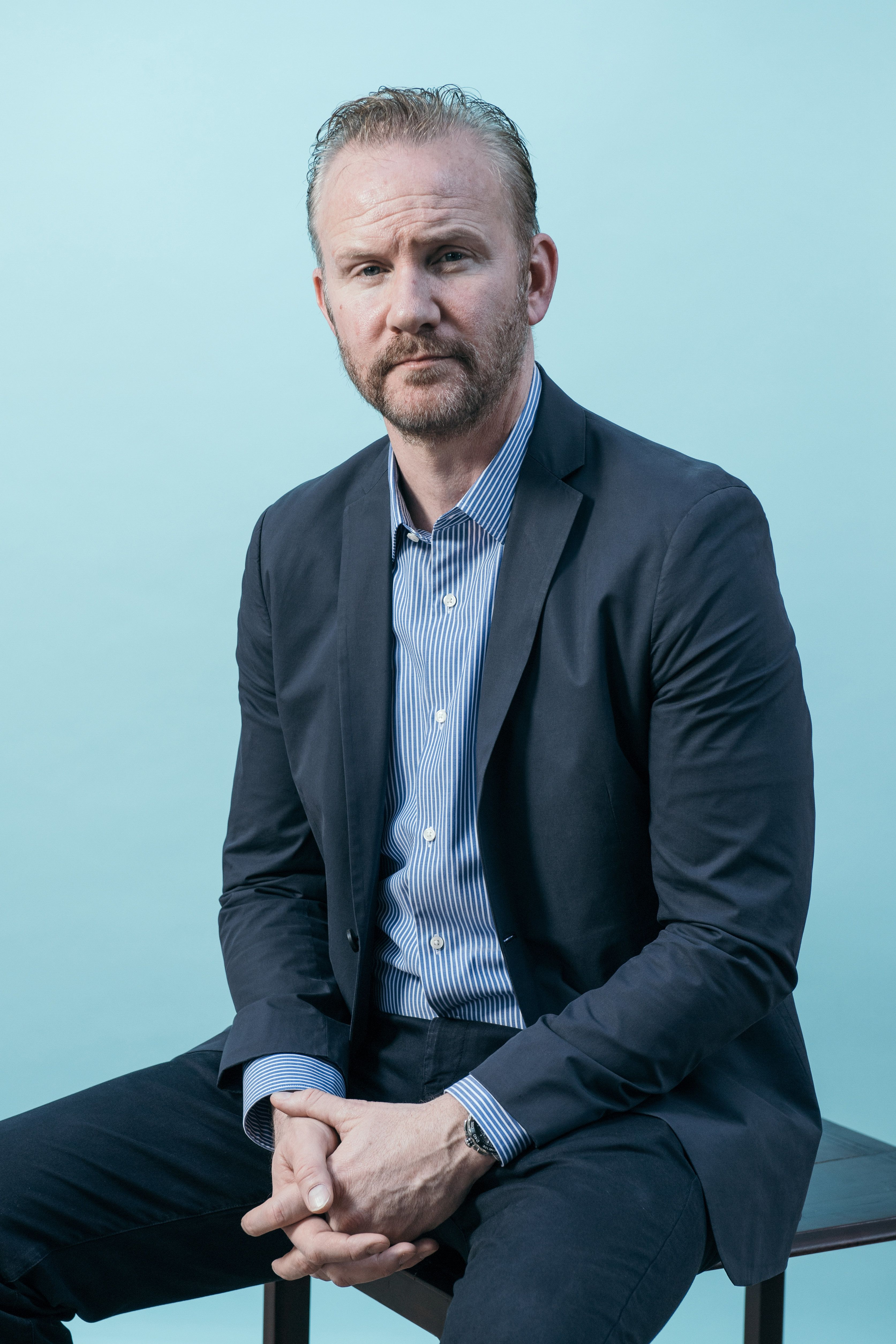 DUBAI, UNITED ARAB EMIRATES - DECEMBER 11:  Morgan Spurlock poses during a portrait session at the 14th annual Dubai International Film Festival held at the Madinat Jumeriah Complex on December 11, 2017 in Dubai, United Arab Emirates.  (Photo by Neilson Barnard/Getty Images for DIFF)