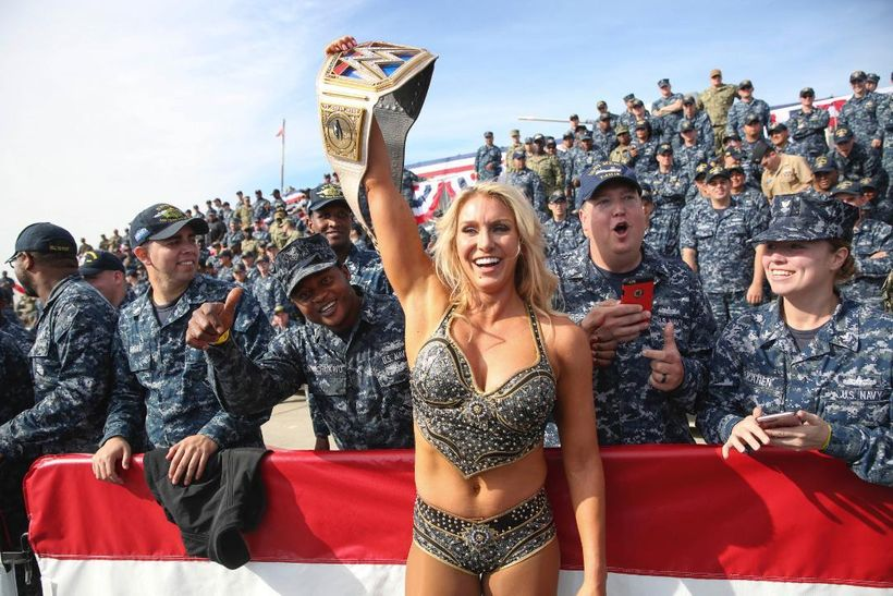 """All the men and women in their fatigues in the audience felt very personal and special,"" said Charlotte Flair of the 2017 WW"