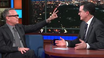 Tom Hanks and Stephen Colbert