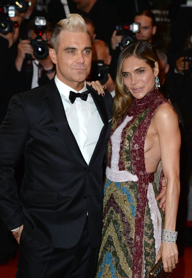 Robbie with his wife,