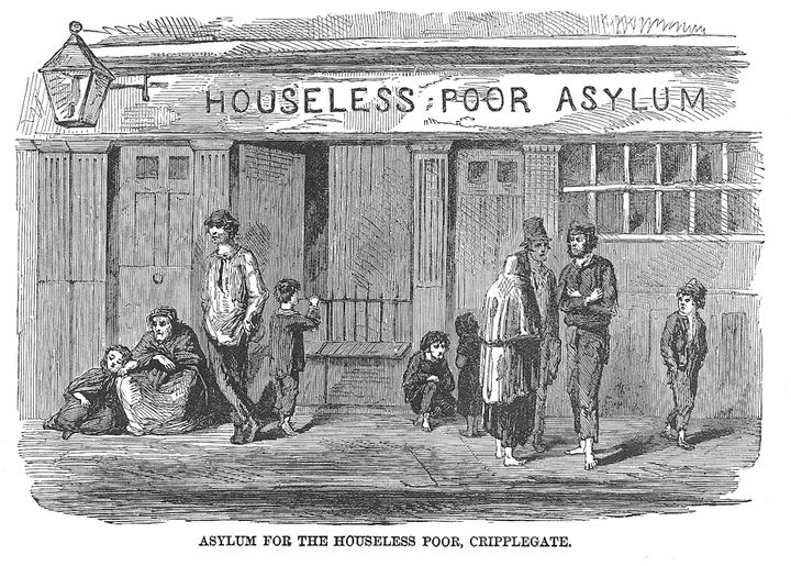 An illustration from Mayhew's book. His study of 19th century London's homeless influenced novels by Charles Dickens.