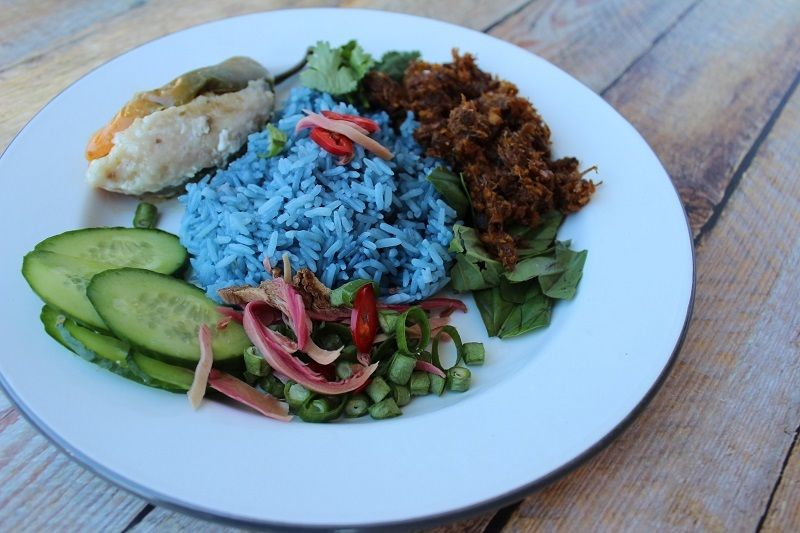 Nasi Kerabu from my Live Asian Kitchen on Twitch