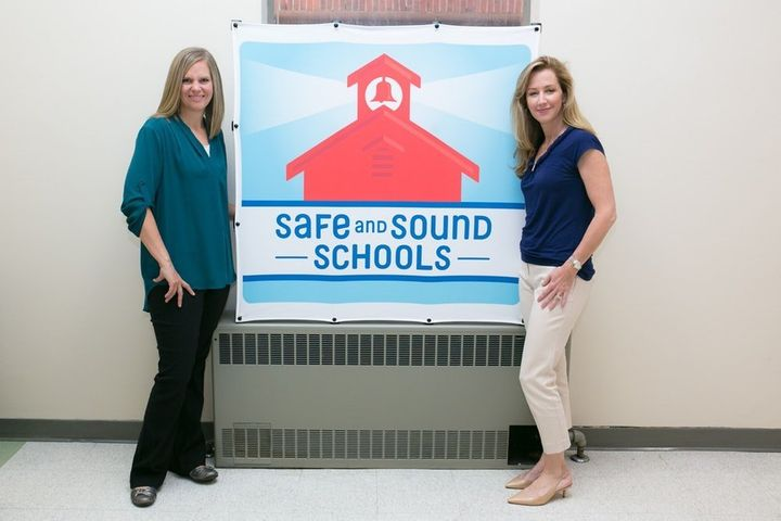 Alissa Parker and Michele Gay founded Safe and Sound Schools after their daughters were killed in the shooting at Sandy