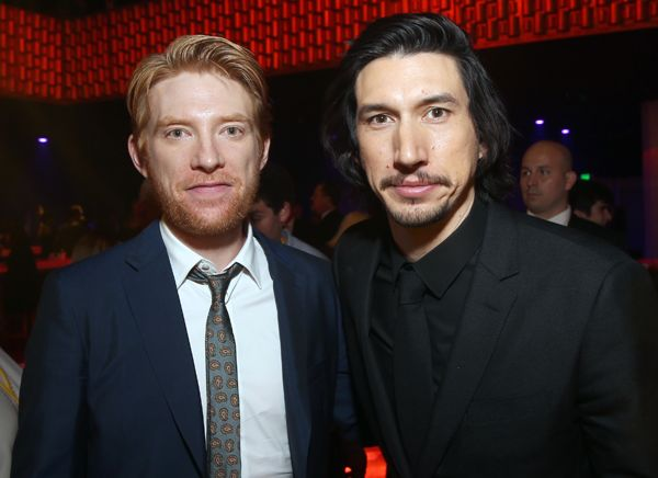 Actors Domhnall Gleeson (L) and Adam Driver at <em>Star Wars: The Last Jedi</em> Premiere