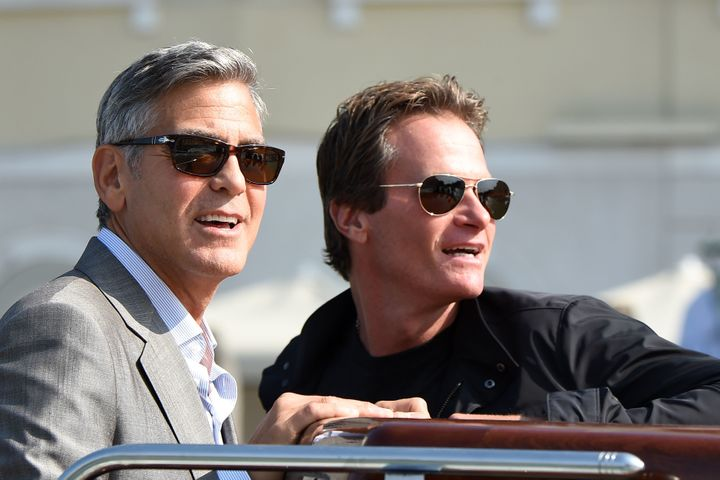 George Clooney and Rande Gerber in Venice, Italy in 2014.