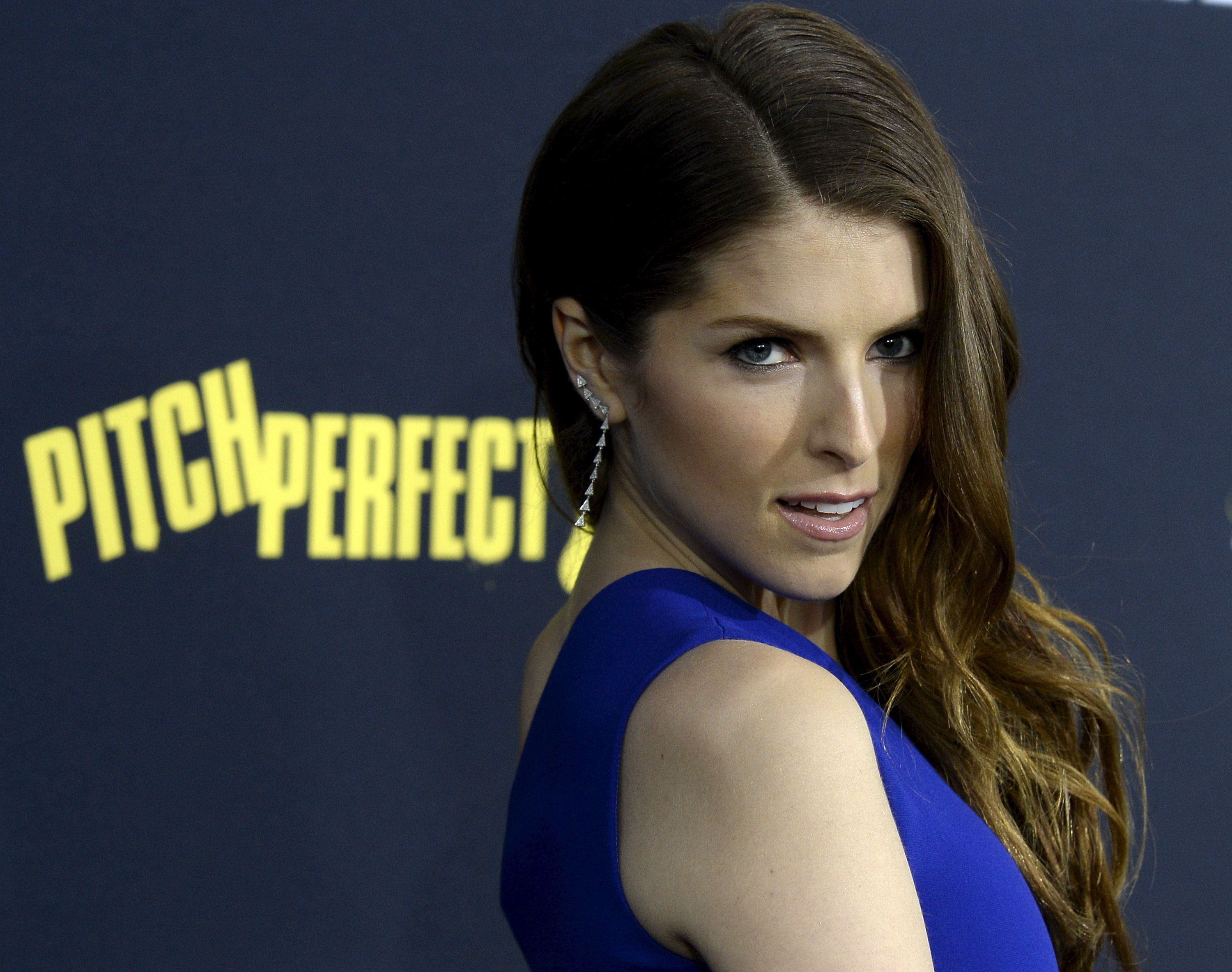 "Cast member Anna Kendrick poses at the premiere of ""Pitch Perfect 2"" in Los Angeles, California, United States May 8, 2015. The movie opens in the U.S. on May 15. REUTERS/Kevork Djansezian"
