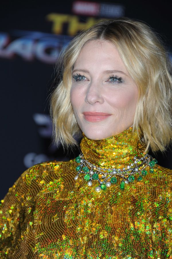 Actress Cate Blanchett proves there's no such thing as too much sparkle with this look, which is actually great inspiration f