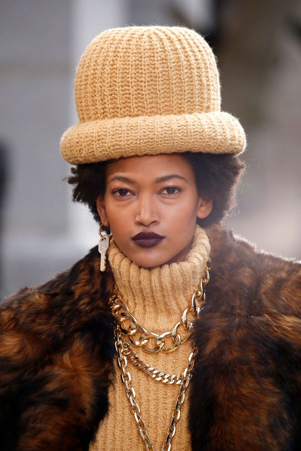 If you thought a chunkyturtlenecksweater would swallow your accessories in its folds, think again. Aswe saw