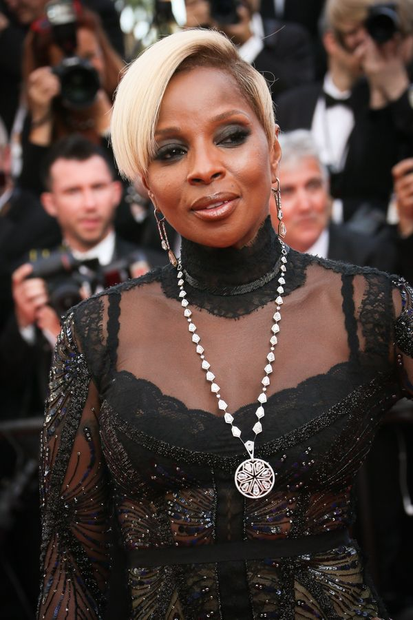 Turtlenecks don't only exist in sweater form! Singer and actressMary J. Bligebrought the turtleneck-and-necklace