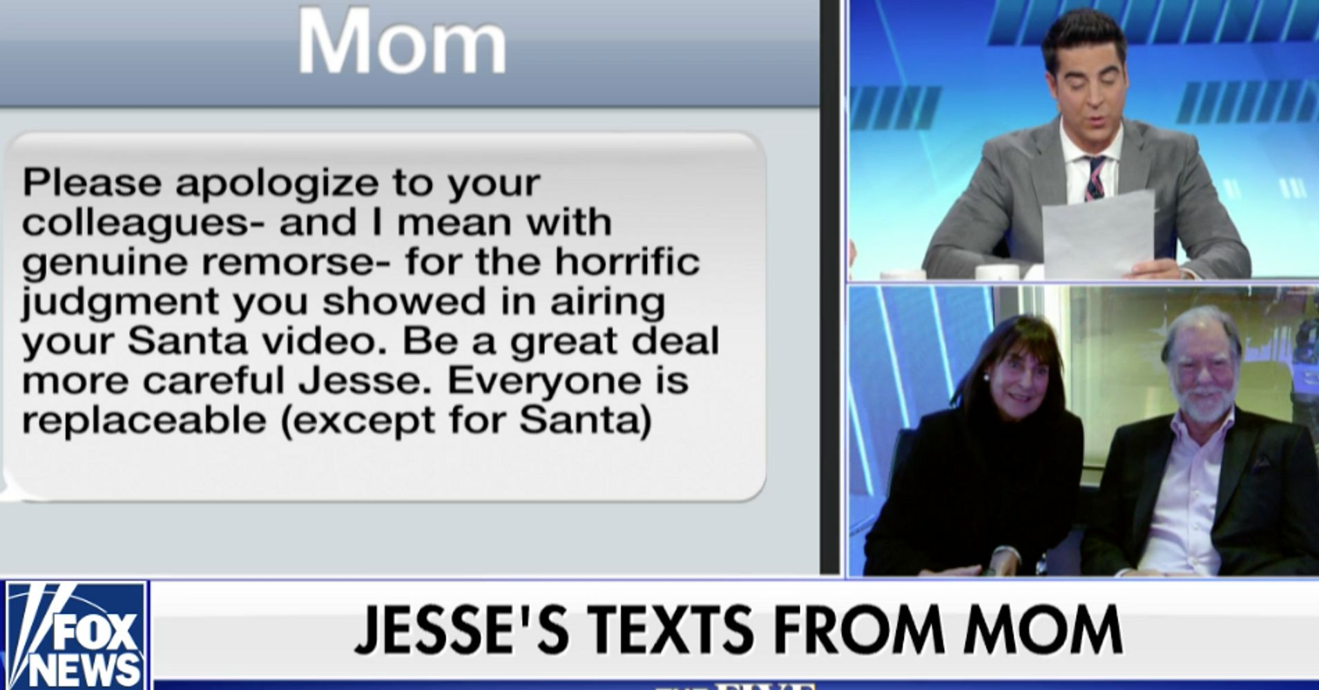 Jesse Watters' Mother Is 'Distraught' About Her Son's Views