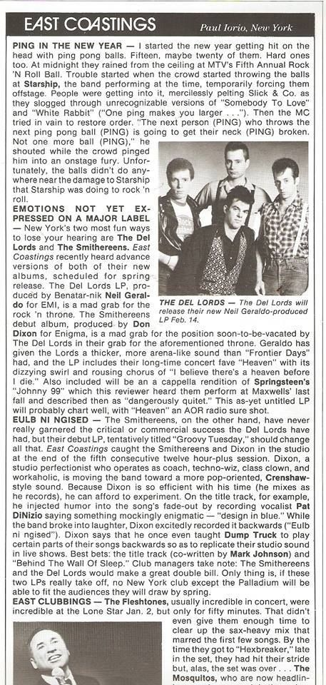 """Here is the piece I wrote about the recording sessions for """"Especially for You"""" in January 1986."""