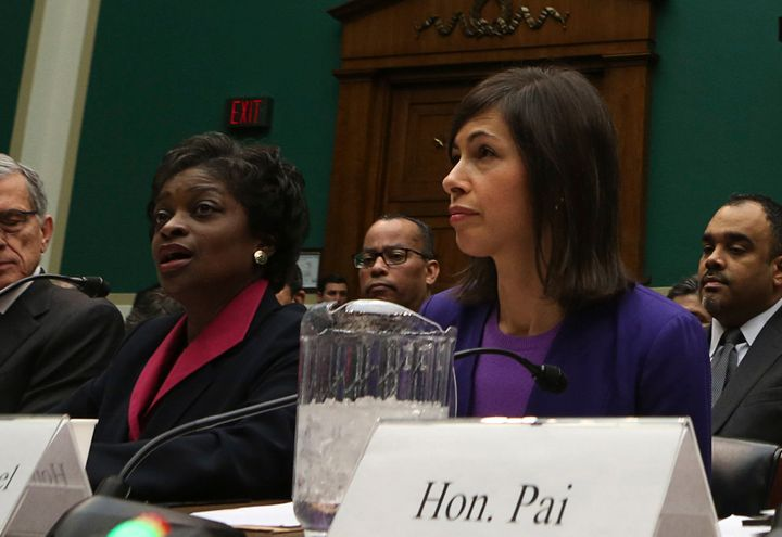 FCC Commissioners Mignon Clyburn and Jessica Rosenworcel at a 2013 panel.