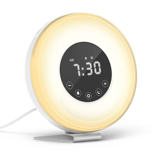 "These <a href=""https://www.amazon.com/hOmeLabs-Sunrise-Alarm-Clock-Simulation/dp/B074NB5TNW/ref=sr_1_3?amp=&ie=UTF8&keywords="
