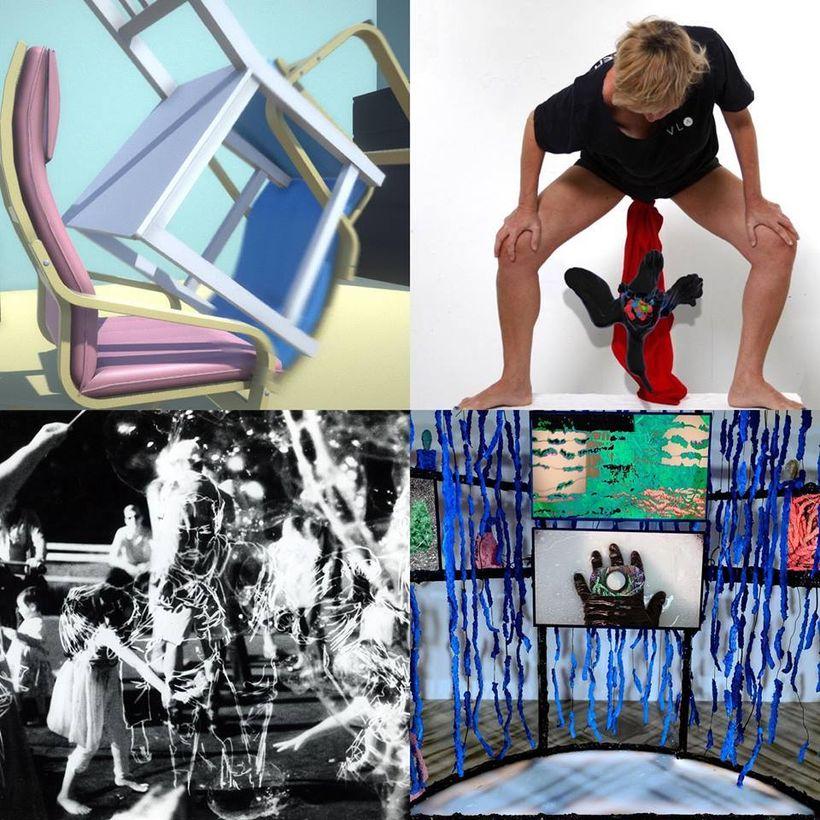 (clockwise, L->R) works by Ryan Kuo, Eva Davidova, Dakota Gearhart and Farideh Sakhaeifer
