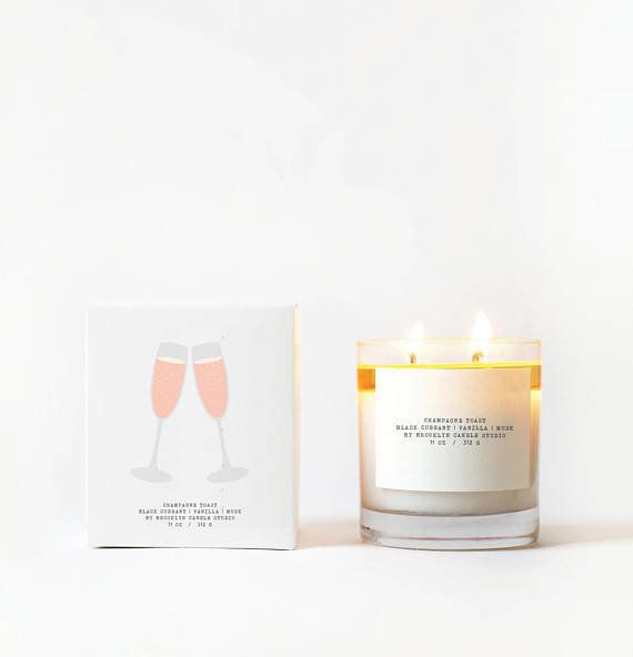 """I'm obsessed with the scent of this <a href=""""https://www.etsy.com/listing/537017462/champagne-toast-double-wicked-boxed?ref=f"""