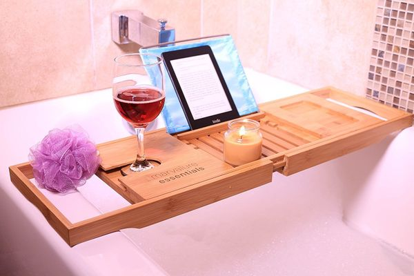 "Get your self-care guru this <a href=""https://www.amazon.com/Premium-Bamboo-Adjustable-Holder-Relaxation/dp/B01FE8P9QW/ref=sr"