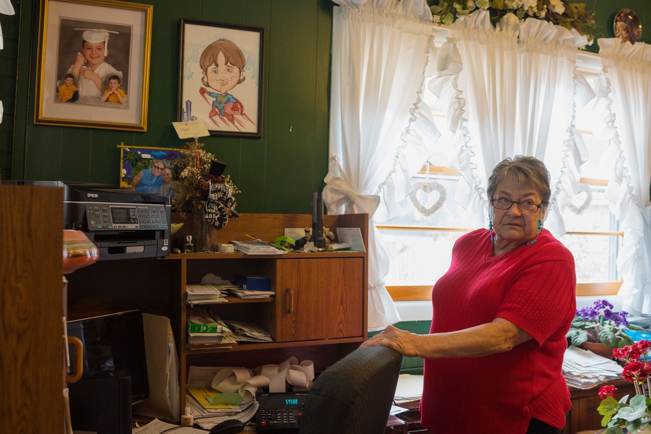 Doris Thompson, 74, at her home in Forest, Virginia, cares for her great-granddaughter, Sunnie, 12, who was kicked out of a Christian school at age 8.