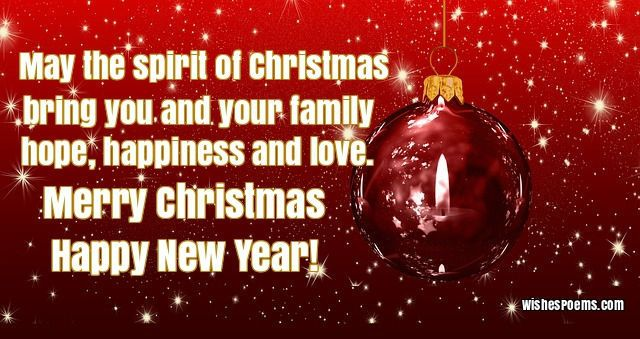 35 christmas card messages what to write in a christmas card may the spirit of christmas bring you and your family hope happiness and love merry christmas and happy new year m4hsunfo