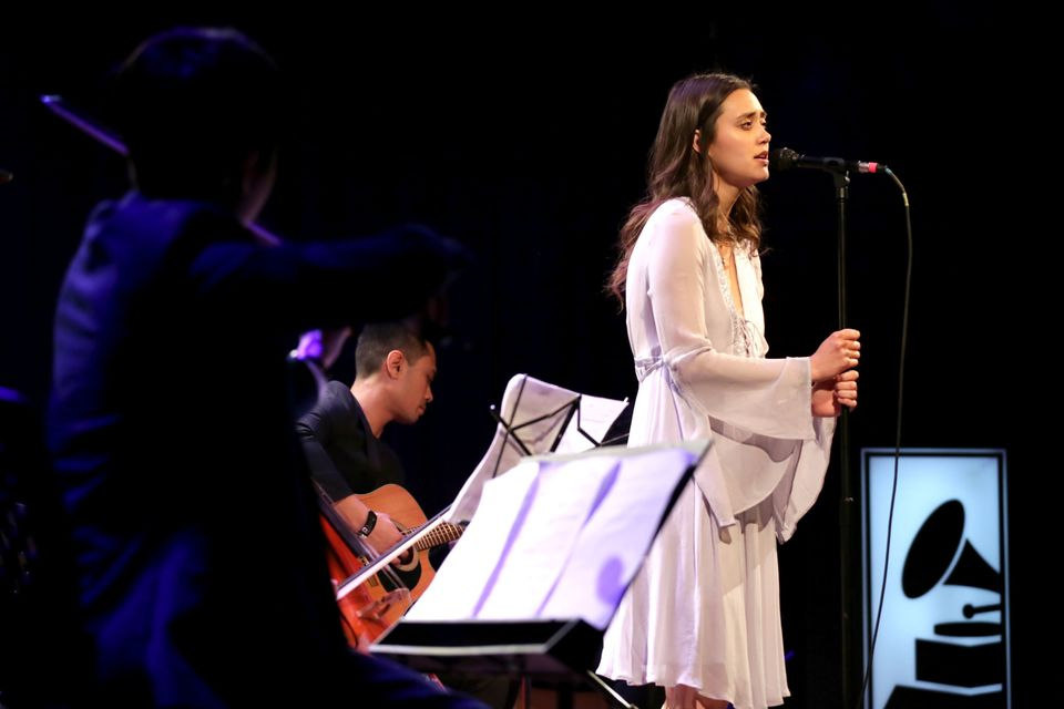 Dia Frampton, season one's runner-up, performs atthe Grammy Museum on March 2, 2017, in Los
