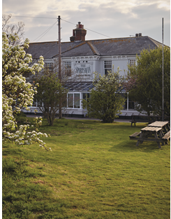 The exterior of The Sportsman restaurant in Kent, England
