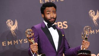 LOS ANGELES, CA - SEPTEMBER 17:  Actor Donald Glover poses in the press room at the 69th annual Primetime Emmy Awards at Microsoft Theater on September 17, 2017 in Los Angeles, California.  (Photo by Jason LaVeris/FilmMagic)