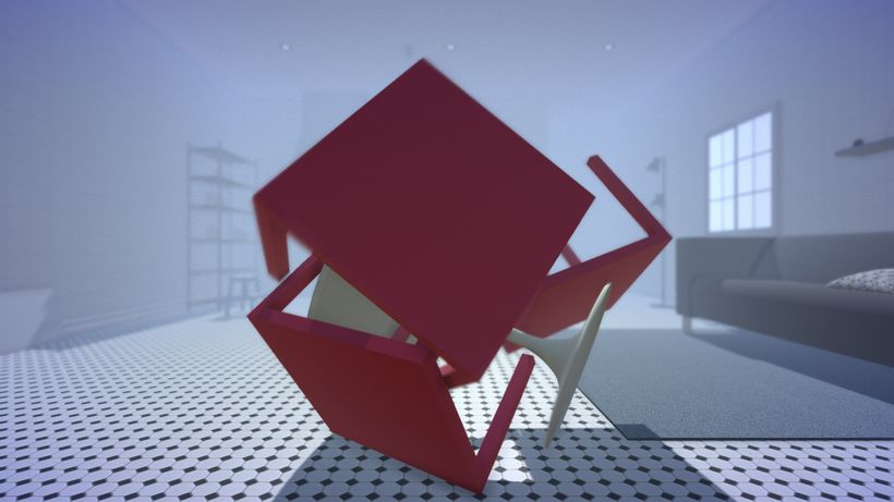 video still, <strong>Ryan Kuo, </strong><em>The Way I See It,(</em>2017) Game application, IKEA models