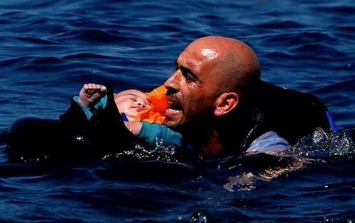 """<strong><em>How many more refugees will drown? (courtesy """"A Sea of Images"""")</em></strong>"""
