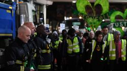 Grenfell Firefighters Stand In Silence To Honour Those Who Died In Blaze Six Months