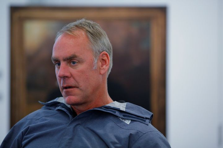 Interior Secretary Ryan Zinke said he has removed four senior leaders from the department in response to an employee sur