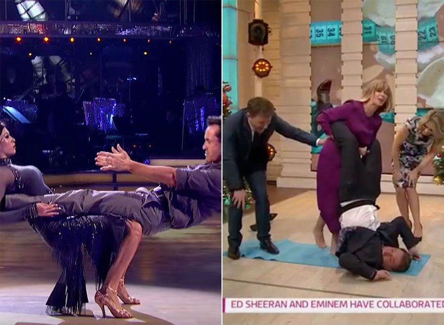 Kate Garraway Attempted To Recreate *That* 'Strictly' Lift... And There Were Absolute