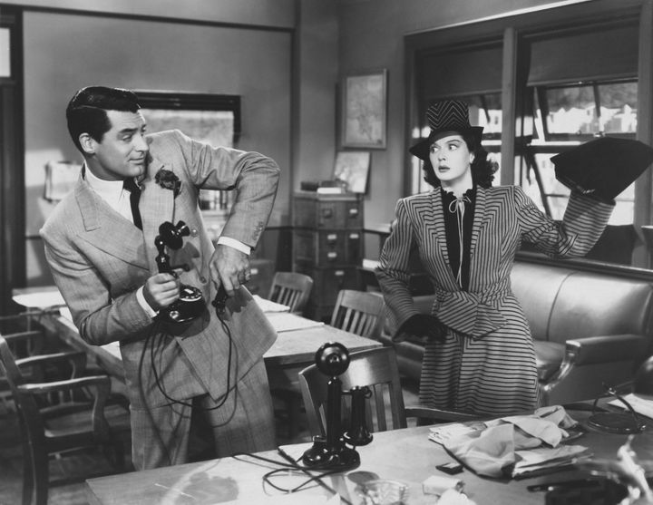 "Rosalind Russell as Hildy Johnson in ""His Girl Friday."""