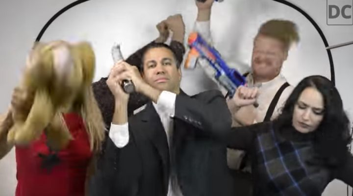 "A screenshot of Pai dancing to ""Harlem Shake"" in the video from The Daily Caller."