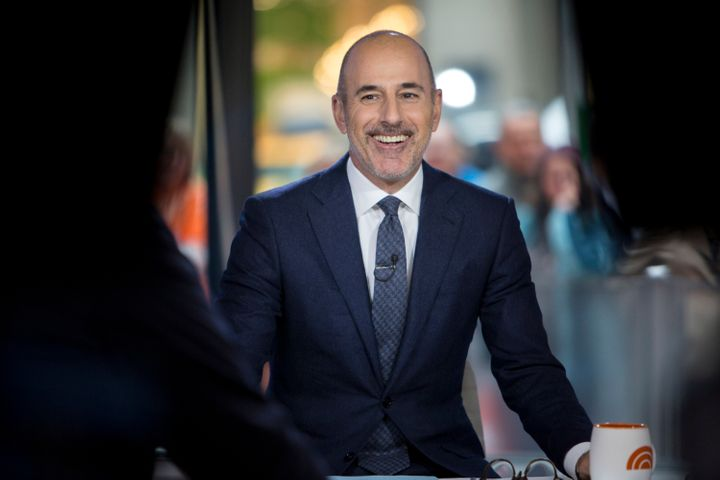 """Matt Lauer on """"Today"""" in November, before the allegations broke."""