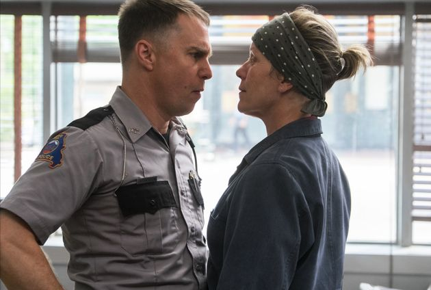Sam Rockwell and Frances McDormand face off in