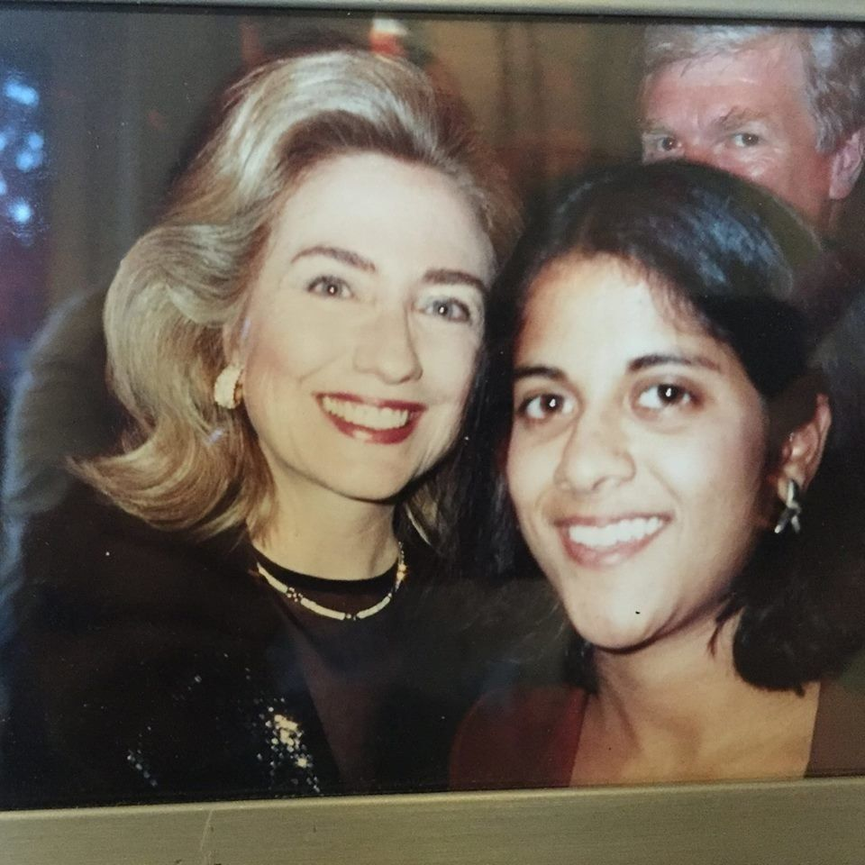 Hillary Clinton with author Saira Rao in her college days.